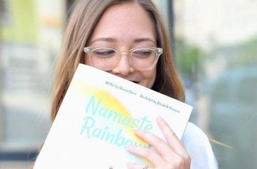 sharon cleere, author, denver children's author, childrens books, namaste rainbow, yoga books for kids